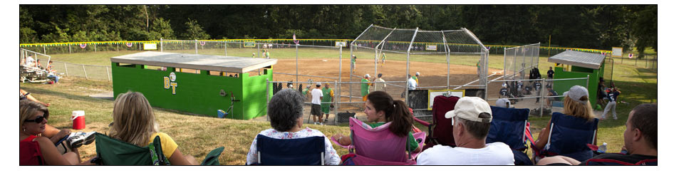 Baseball game at Dawson Ridge Park, Brighton Township. Photo: Copyright © 2010 Emmanuel Panagiotakis.