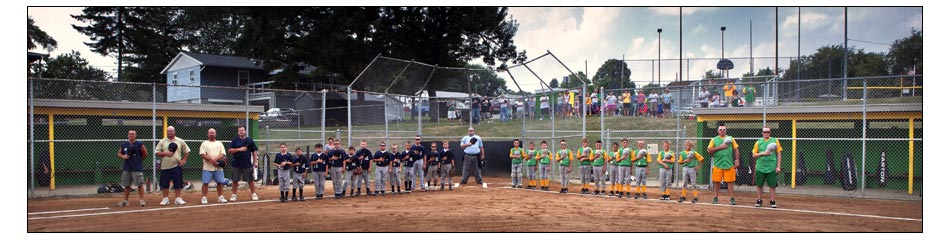 A baseball game at one of two Dawson Ridge Park fields, Brighton Township. Photo: Copyright © 2010 Emmanuel Panagiotakis.